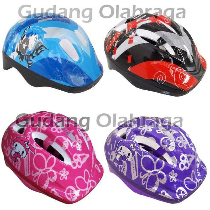 harga Helm sepatu roda anak karakter / helm sepeda anak Tokopedia.com