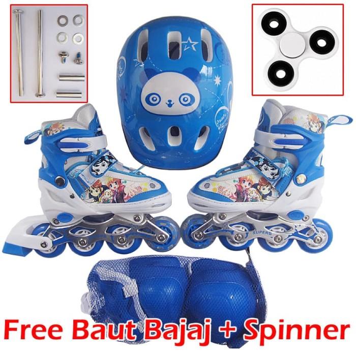 Jual Sepatu Roda Anak Full Set Komplit (Inline skate + Helm + Dekker ... 3cf1ee0ede