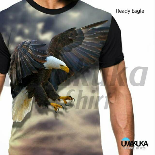 Jual Kaos Polos Belakang Depan Fullprint 3d Kaos Burung Elang
