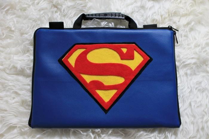 ... harga Superman kulit 10 & 11-12inchi softcase tas laptop netbook leather Tokopedia.com