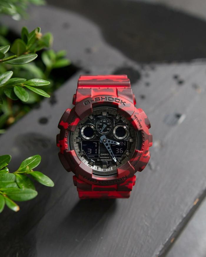 Jual Jam Tangan Pria Casio G-Shock GA-100CM Red Army Original BM ... c973a8c5fc