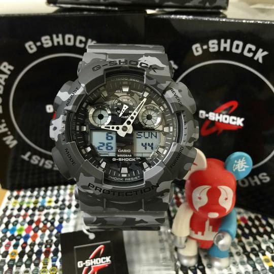 Jual Jam Tangan Pria Casio G-Shock GA-100CM Grey Army Original BM ... cb7583d6d0