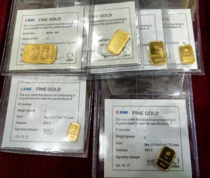 Jual Emas Batangan Gold Bar 05gr Sertifikat Antam 2018 Swiss