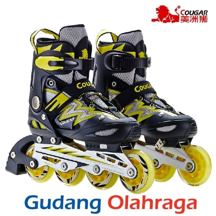 Cougar Inline Skate Sepatu Roda Mzs68fb Bkrd Size 30 33 - Daftar ... 5de6fdbdcb
