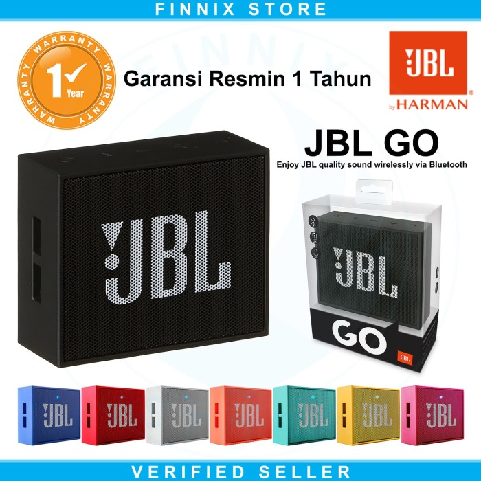 JBL GO Portable Mini Bluetooth Speaker ORIGINAL Garansi Resmi 1 Tahun - Hitam