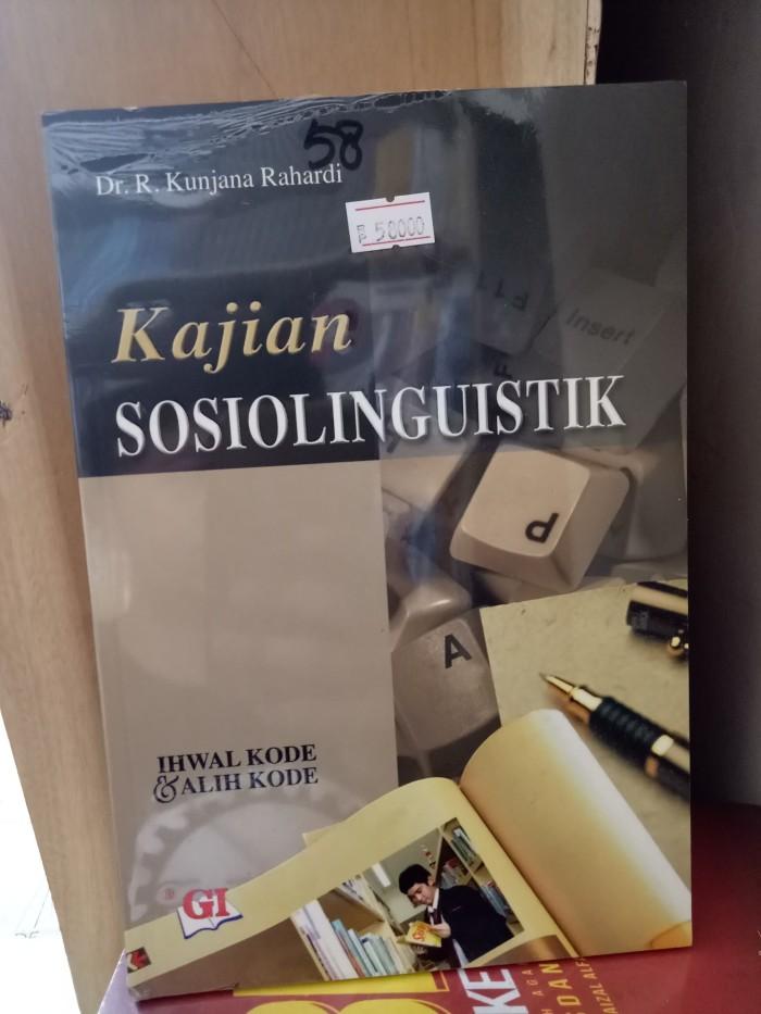 harga Kajian sosiolinguistik - kunjana rahardi Tokopedia.com