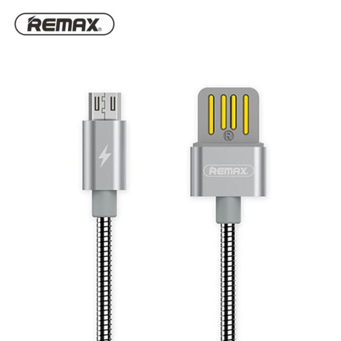 ... REMAX Cable Silver Serpent Micro USB Kabel Data Charger Xiaomi Samsung