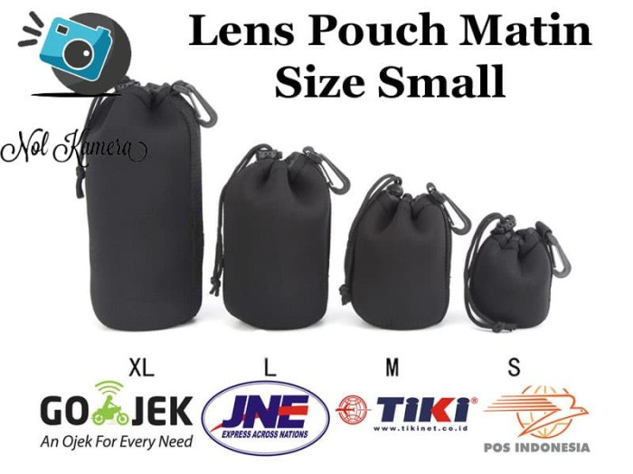 Sarung Lensa Matin Neoprene Lens Pouch LensPouch Ukuran Small (S)