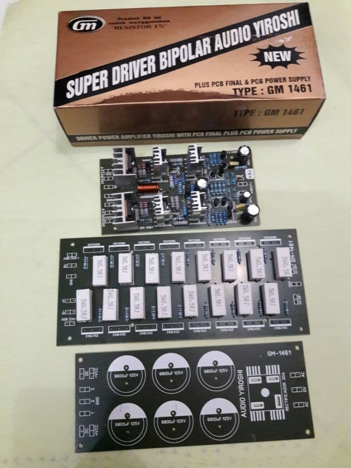 Jual kit driver power audio yiroshi plus pcb final TR GM 1461 - Kab   Cirebon - JURAGAN Electronic | Tokopedia