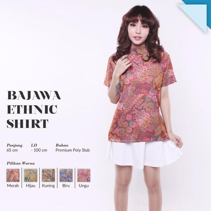 harga Bajawa ethnic shirt blouse batik songket baju kerja wanita murah Tokopedia.com