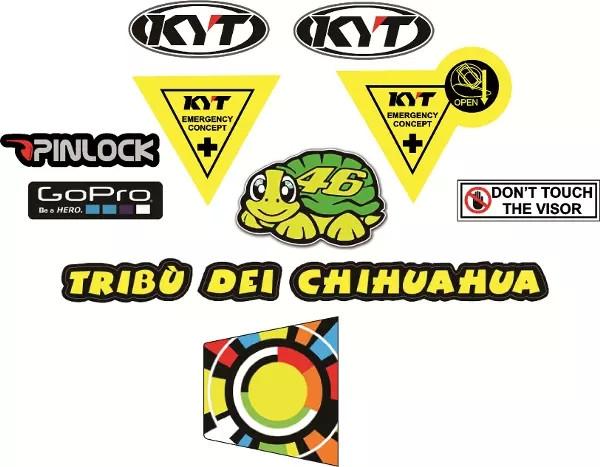 1a87d9b6 Jual Sticker / stiker Set Visor kaca KYT - Kota Tangerang ...