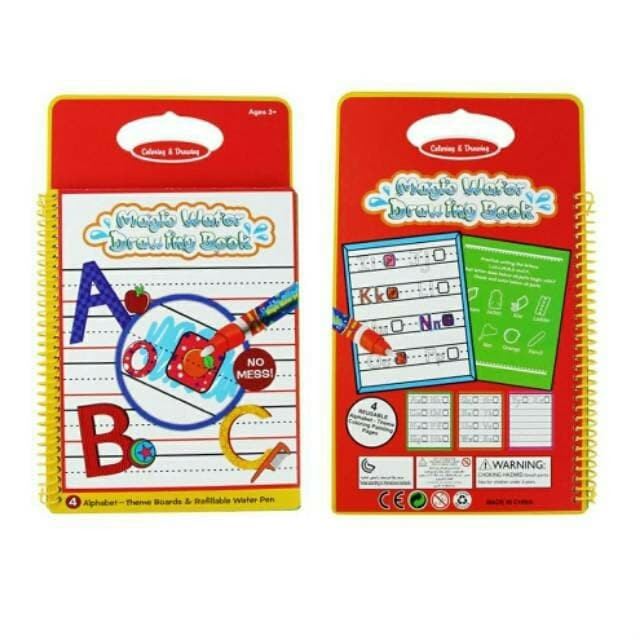 harga Mainan edukasi magic water doodle book buku motif abc Tokopedia.com