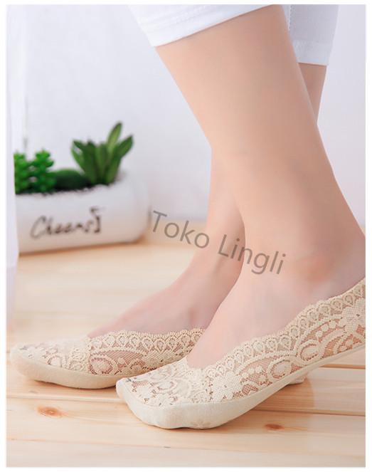 Foto Produk Kaos Kaki Bamboo / Hidden Socks / Kaos Kaki Invisible - Putih dari tokolingli