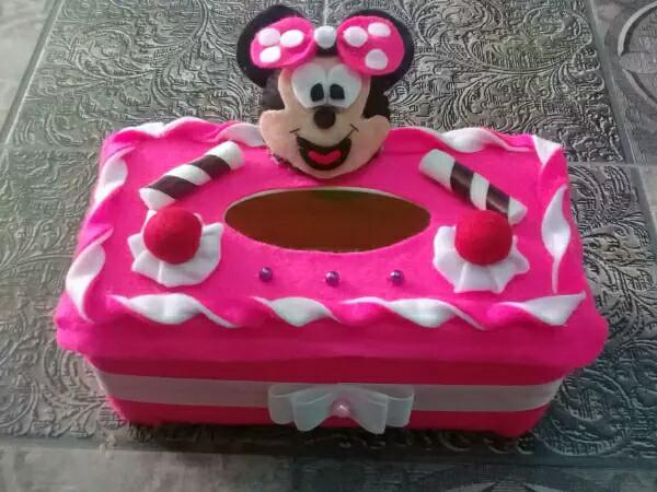 harga Kotak tisu flanel miki mouse pink/toples kue lebaran Tokopedia.com