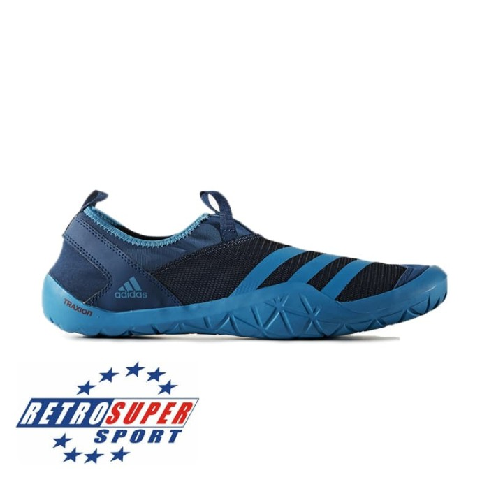 harga Men's shoes sneakers adidas climacool jawpaw slip on s80816 biru Tokopedia.com