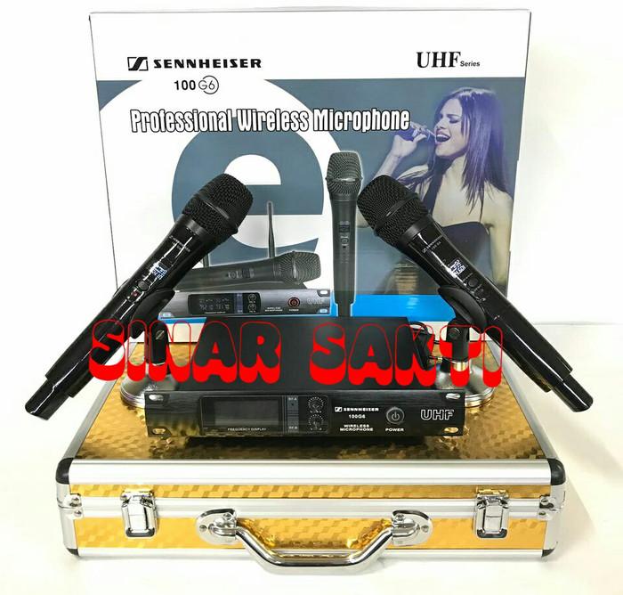 harga Mic sennheiser 100 g6 + hardcase wireless microphone Tokopedia.com