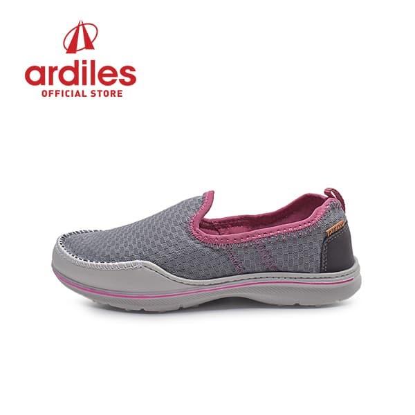 ardiles women glamour sepatu slip on - abu - abu-abu muda 40