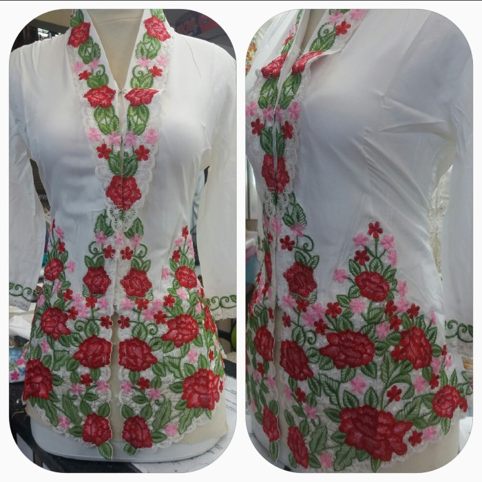 harga Kebaya encim rose merah Tokopedia.com