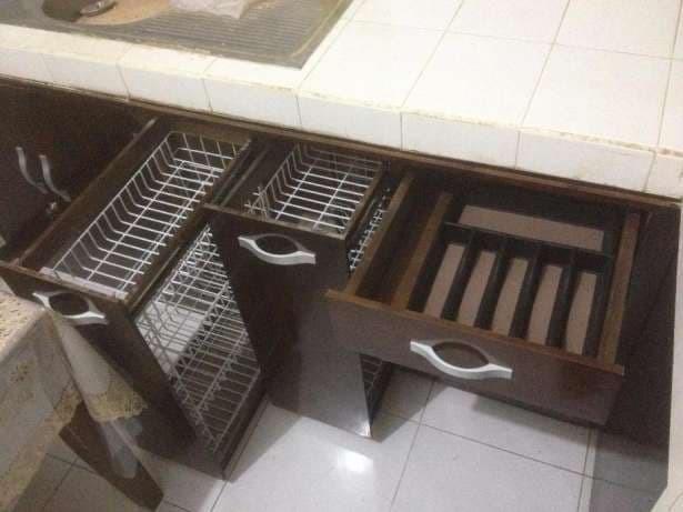 Jual Kitchen Set Rak Lemari Dapur Kayu Solid Pinus Jati Belanda