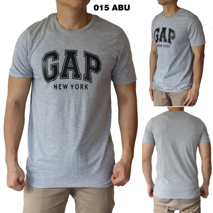 harga Kaos gap 015 abu baju cowok pria Tokopedia.com