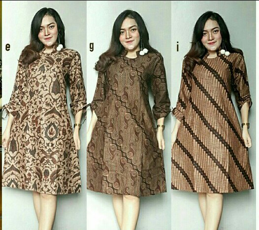Jual TUNIK BATIK SOGAN KLASIK - TUNIK / DRESS / ROK BLUS