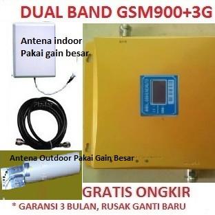 harga Repeater boster penguat sinyal hp dualband gsm 900mhz 2g & 3g 2100mhz Tokopedia.com