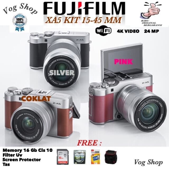 harga Kamera mirrorless fujifilm xa5 kit 15-45 mm Tokopedia.com