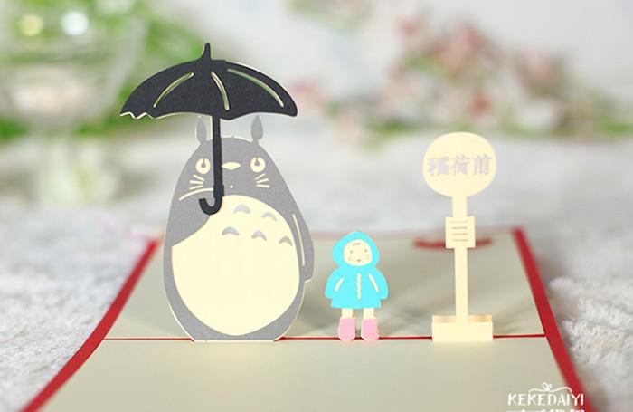 harga Kartu ucapan 3d 4d totoro tororo animal lucu cute panda Tokopedia.com