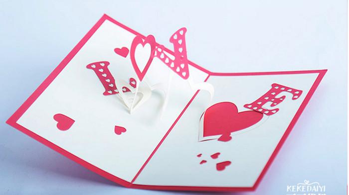 Jual Kartu Ucapan 3d Love Cinta Ulang Tahun Pacar Gift Card Hadiah Sovenir Kota Tangerang Grosir Baking Tools Tokopedia
