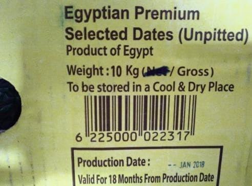 Kurma Mesir Golden Valley 10 Kg