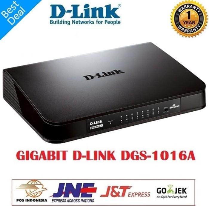 GIGABIT SWITCH HUB DGS-1016A D-LINK 16 PORT 1000 Mbps