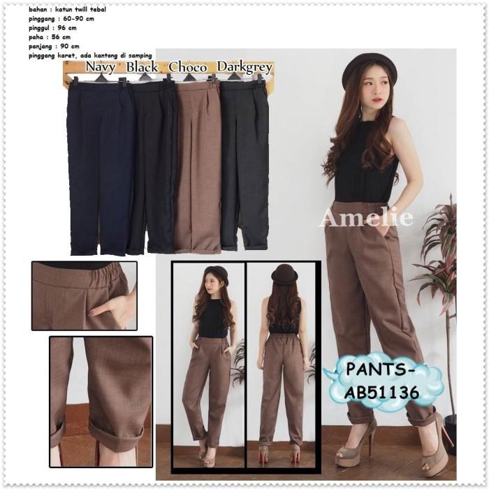 harga Celana panjang katun karet wanita korea bangkok pants import ab51136 Tokopedia.com