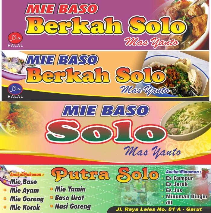 Cetak Spanduk Banner Makanan Bakso cdr