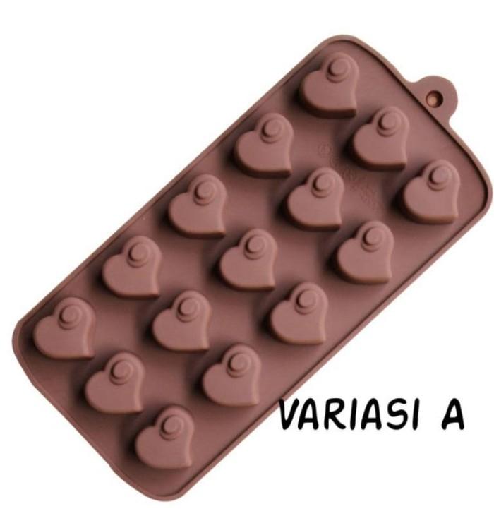 Cetakan silikon/ cetakan coklat puding es/ cetakan love
