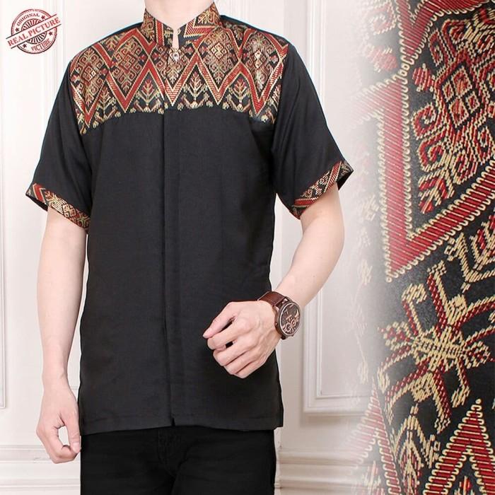 Herman Batik A9031 Baju Kemeja Pria Slimfit Fashion Jeans Muslim Koko Batik. Source · Atasan