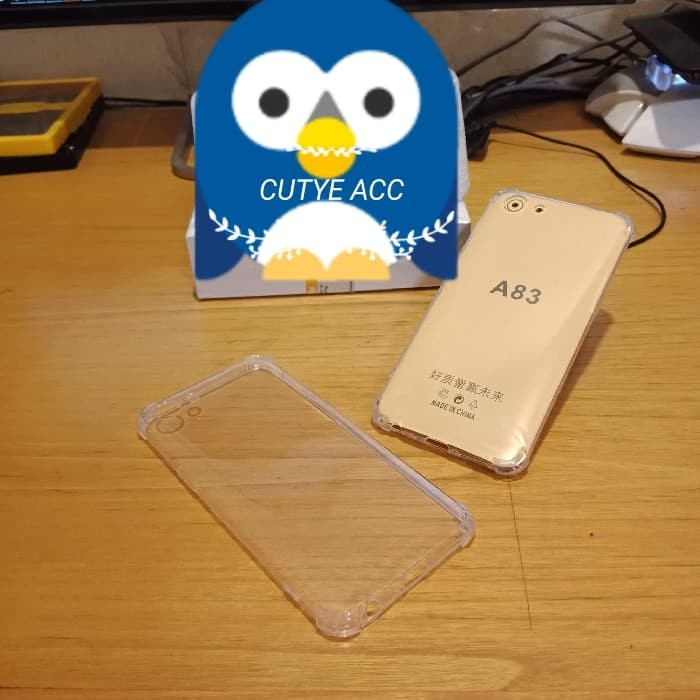 CASE ANTI CRACK FOR OPPO A83 / SOFTCASE / TRANSPARAN CLEAR CASE