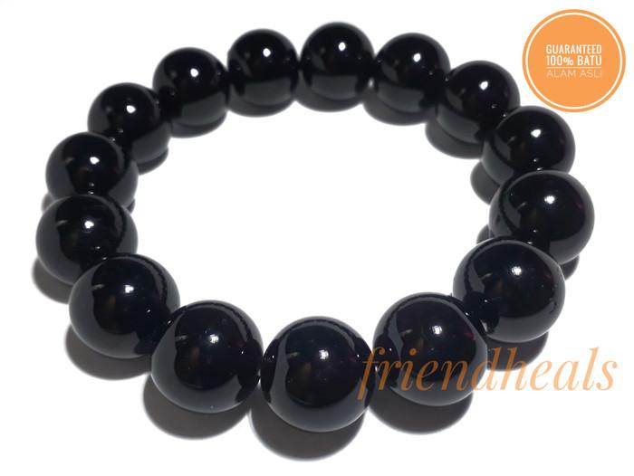 harga Gelang natural black tourmaline 14mm Tokopedia.com