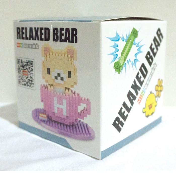 harga Lego nano block jumbo rillakuma teacup pink - lego murah - nano block Tokopedia.com