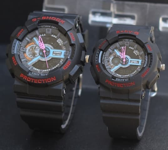 ... harga Jam tangan casio g shock couple ga110 black red Tokopedia.com 966f14abab