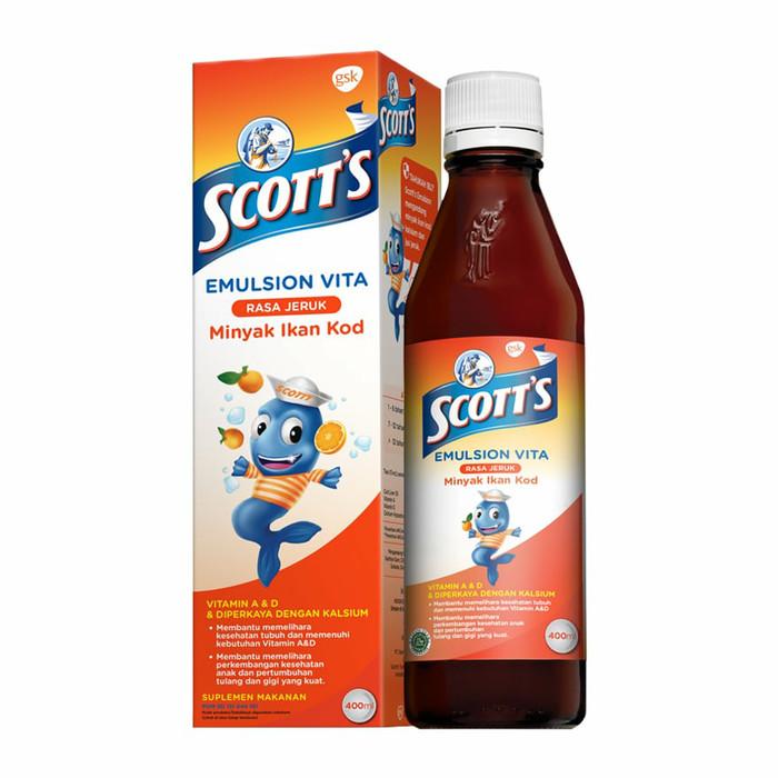 Scotts Emulsion Vita Jeruk Orange 400ml Scott's Scott Original 400 ml