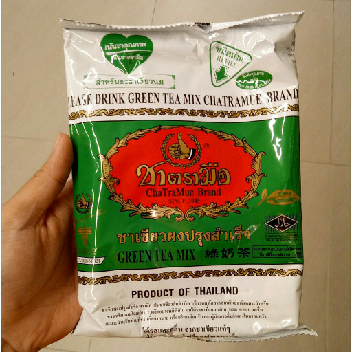 Original Thai Green tea Number One Brand Cha Tra Mue Brand 200gr