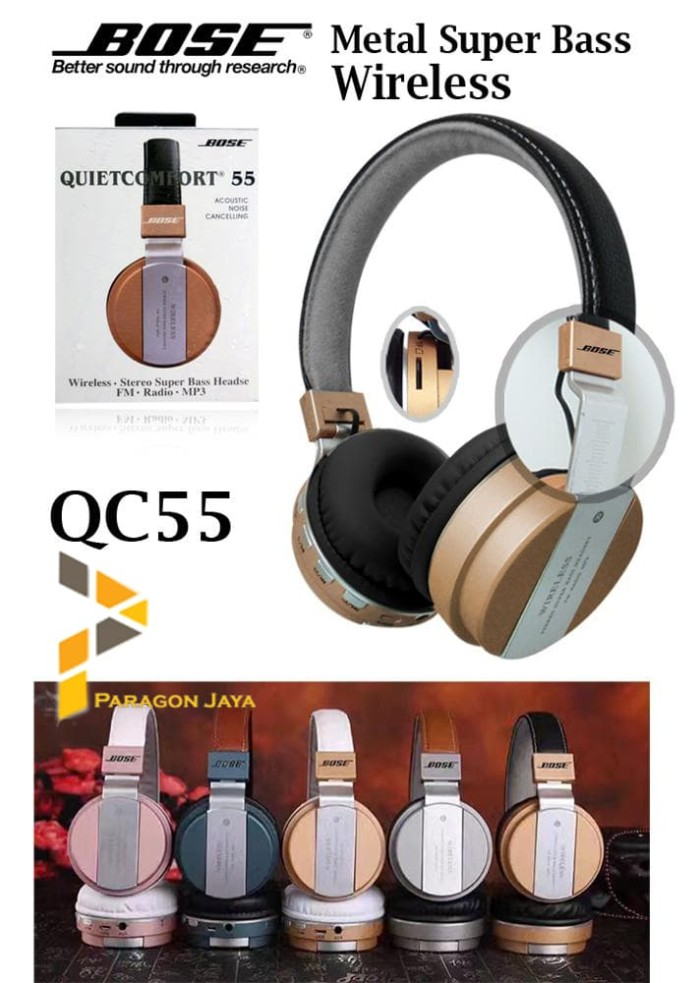 7edaca7a001 harga Bose quiet comfort qc 55 / wireless headphone bluetooth headset qc55  Tokopedia.com