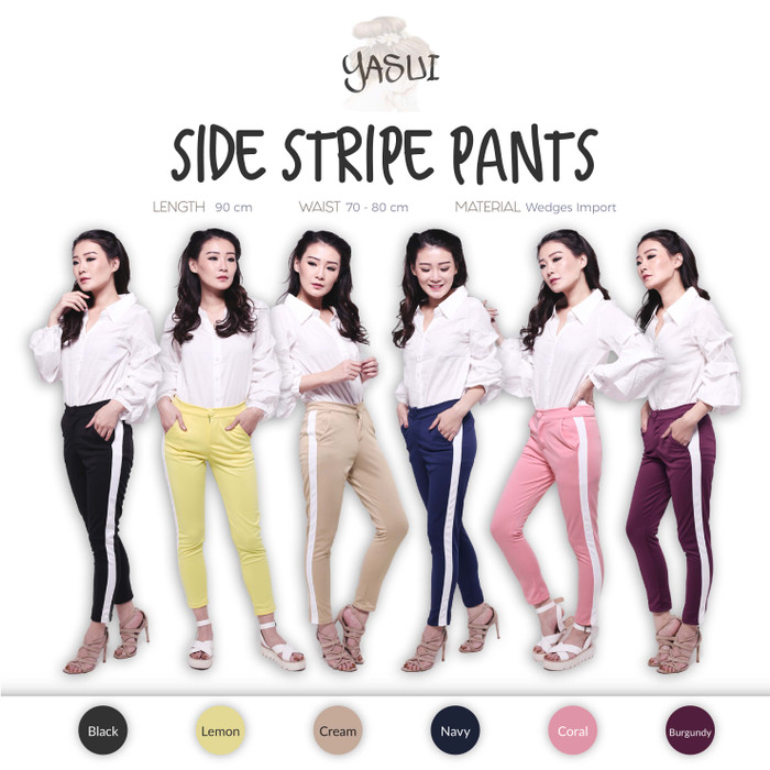 harga Side stripe pants ( wedges import ) Tokopedia.com