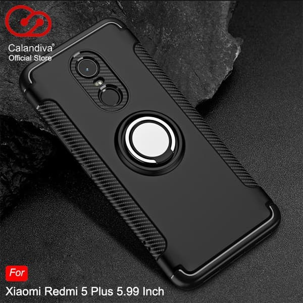 sale retailer 30f8b 2d7e4 Jual Calandiva Ring Carbon Case Xiaomi Redmi 5 Plus 5.99 Inch - Black -  Merah - Kota Bekasi - Calandiva Official Store - OS | Tokopedia