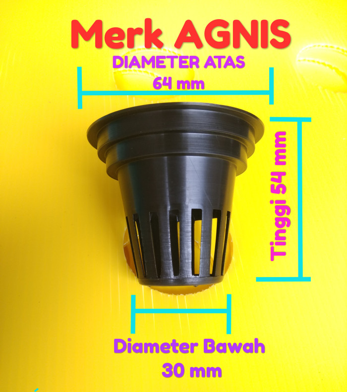 Foto Produk Netpot Multi Diameter 4.5 cm sd 6cm Net Pot NFT Hydroponik Aquaponik dari SINOR Store
