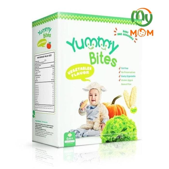 harga Yummy bites vegetables rice crackers box (24 x 50 gr) / mymom Tokopedia.com