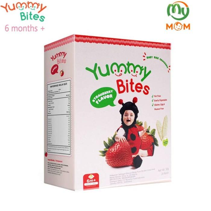 harga Yummy bites strawberry rice crackers box (24 x 50 gr) / mymom Tokopedia.com