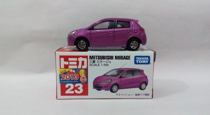 harga Tomica no 23 mitsubishi mirage miniatur mobil replika diecast Tokopedia.com