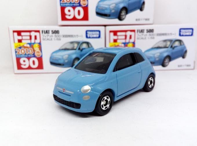 harga Tomica no 90 diecast miniatur mobil fiat 500 biru diecast takara tomy Tokopedia.com