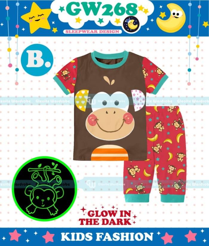 harga Stelan piyama/baju tidur glow in the dark anak laki monyet coklat Tokopedia.com